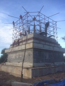 Work on the Stupa of Manjushri Retreat Center Thailand is progressing well