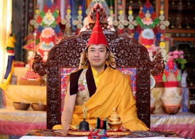 Dupseng Rinpoche at his monastery JCM.