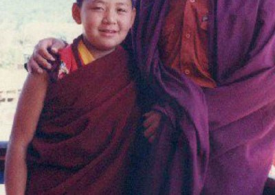 Young Dupseng Rinpoche with the second Shangpa Rinpoche